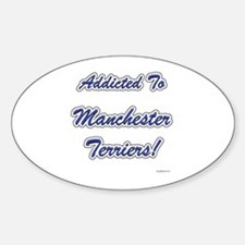 Manchester Addicted Oval Decal