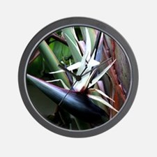 White Bird of Paradise Wall Clock