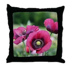 Monets Poppies Throw Pillow