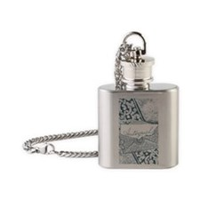 Envelope Flask Necklace