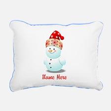 Cute Baby Snowman Cartoo Rectangular Canvas Pillow