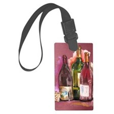 Wine Bottles Luggage Tag