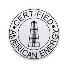 Certified American Energy Pro-Drill Round Ornament