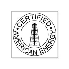 "Certified American Energy P Square Sticker 3"" x 3"""