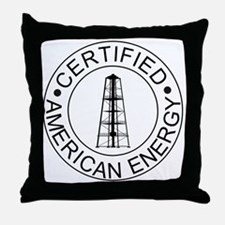 Certified American Energy Pro-Drillin Throw Pillow