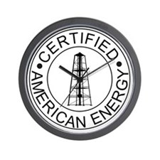 Certified American Energy Pro-Drilling  Wall Clock