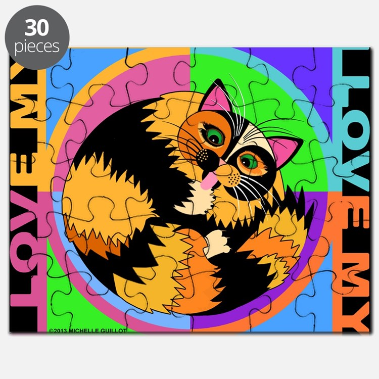 Tortie Kitty Cat Graphics Puzzle