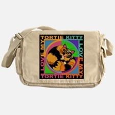 Tortie Kitty Cat Graphics Messenger Bag