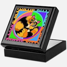 Tortie Kitty Cat Graphics Keepsake Box