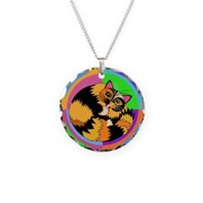 Tortie Kitty Cat Graphics Necklace