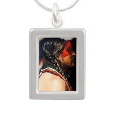 Lakota Magnet Silver Portrait Necklace