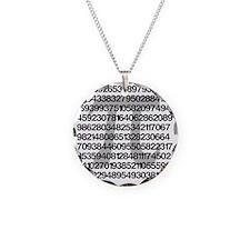 Pi Necklace Circle Charm