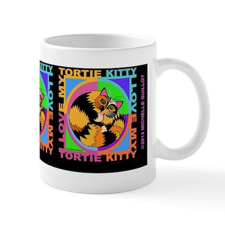 tortie kitty cat graphics Mug