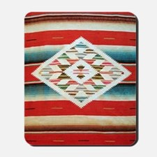 Vintage Red Mexican Serape Mousepad