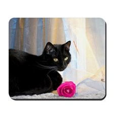 Kitty and rose Mousepad