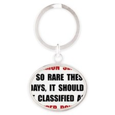 Common Sense Oval Keychain