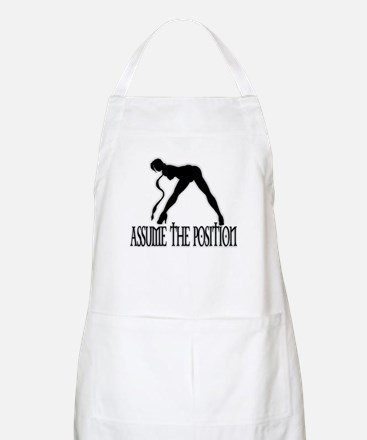 ASSUME THE POSITION BBQ Apron