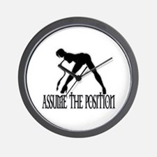 ASSUME THE POSITION Wall Clock