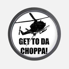 Get To The Choppa Wall Clock