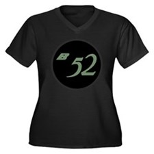 B-52 Women's Plus Size Dark V-Neck T-Shirt