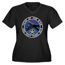 B-52 Stratof Women's Plus Size Dark V-Neck T-Shirt