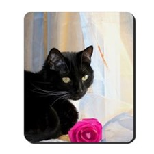 Kitty and Flower Mousepad