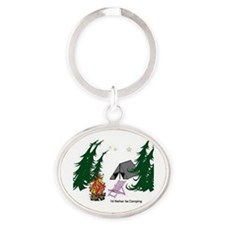 I'd Rather be Camping Oval Keychain