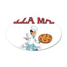 pizza man Oval Car Magnet