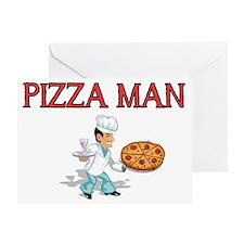 pizza man Greeting Card