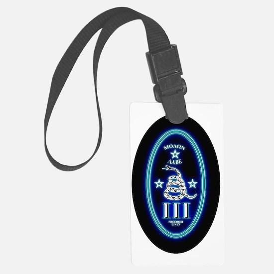 Molon Labe - Vertical Blue Luggage Tag