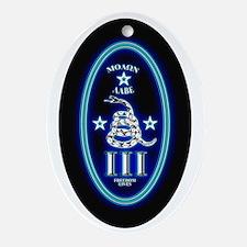 Molon Labe - Vertical Blue Oval Ornament