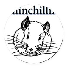 Chinchillin Round Car Magnet