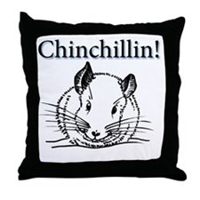 Chinchillin Throw Pillow