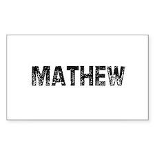 Mathew Rectangle Decal