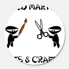 Mixed Martial Arts Crafts Round Car Magnet