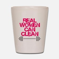 Real Women Can Clean (Pink) Shot Glass