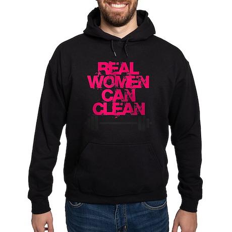 Real Women Can Clean (Pink) Hoodie (dark)