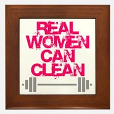 Real Women Can Clean (Pink) Framed Tile