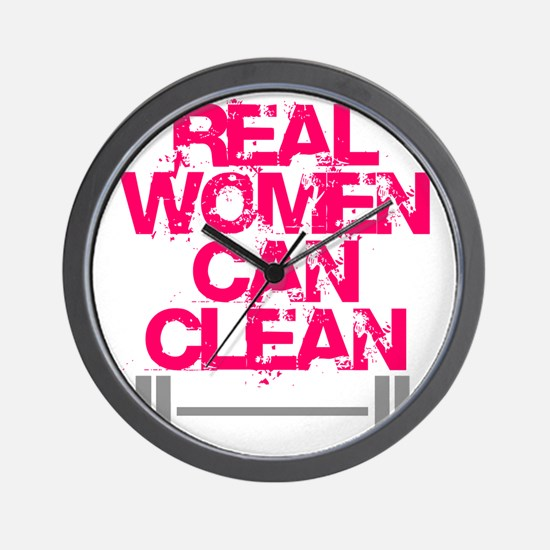 Real Women Can Clean (Pink) Wall Clock