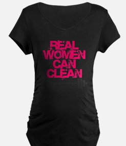 Real Women Can Clean (Pink) T-Shirt