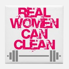 Real Women Can Clean (Pink) Tile Coaster