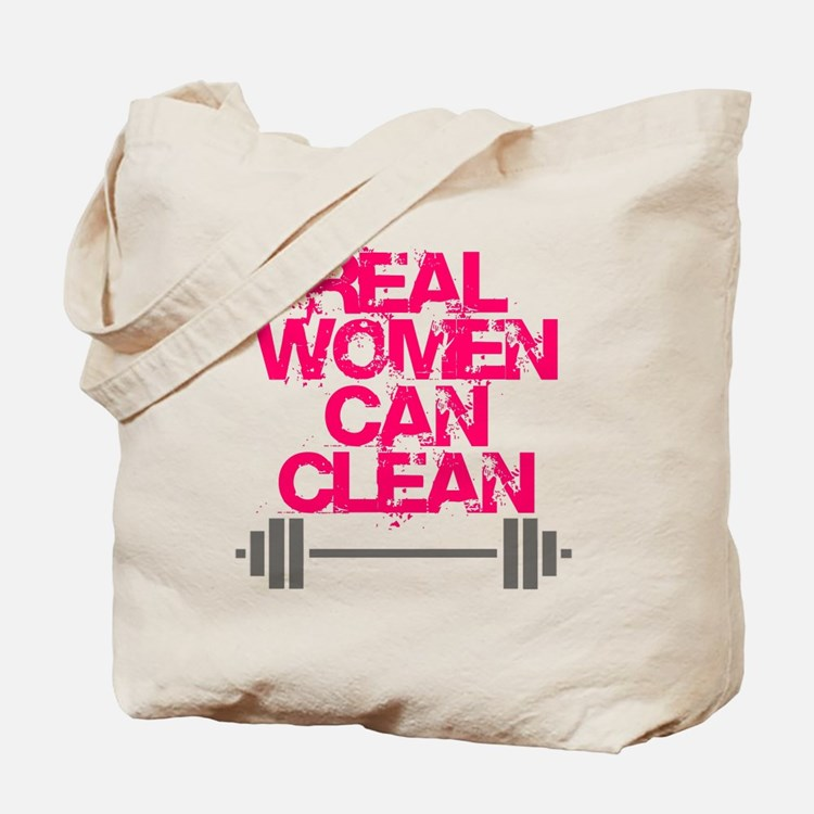 Real Women Can Clean (Pink) Tote Bag