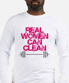 Real Women Can Clean (Pink) Long Sleeve T-Shirt