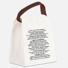 Bachelorette Party Checklist Canvas Lunch Bag