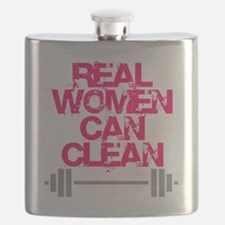 Real Women Can Clean (Pink) Flask