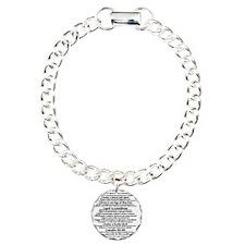 Bachelorette Party Check Charm Bracelet, One Charm