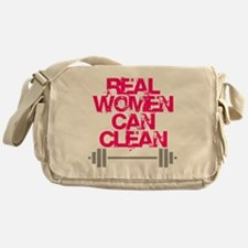 Real Women Can Clean (Pink) Messenger Bag
