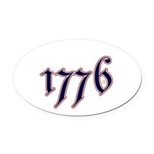 1776 Oval Car Magnet