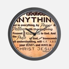 Philippians 4:6-7 Wall Clock