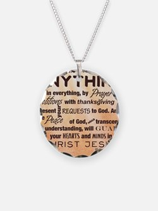 Philippians 4:6-7 Necklace